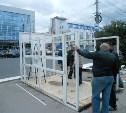 На Фрунзе продолжается снос торговых павильонов