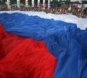 ЛДПР помогла развернуть самый большой флаг России