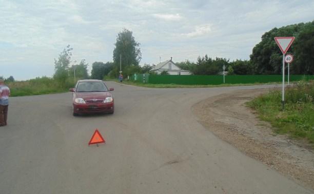 В Узловой в столкновении «Тойоты» и мотоцикла пострадал 17-летний парень