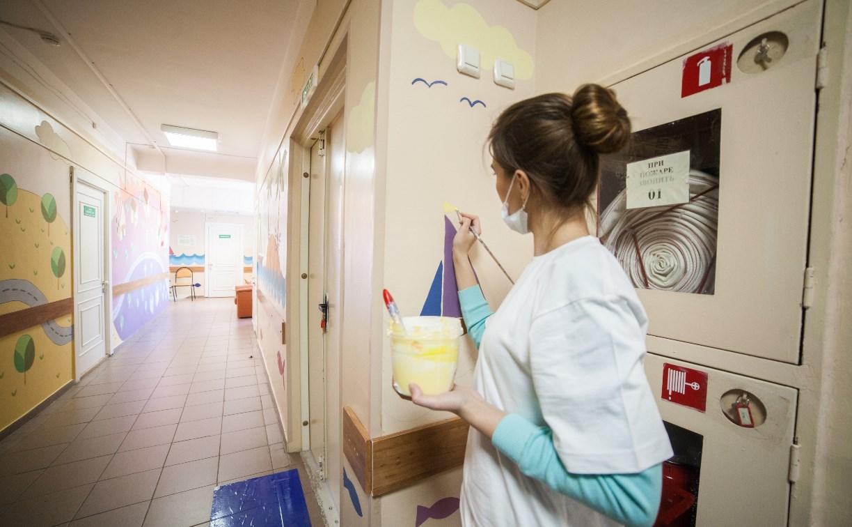 В Туле в детской больнице поселились журавли