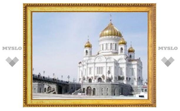 В праздник Сретения Господня Патриарх Кирилл совершил Божественную литургию в Храме Христа Спасителя