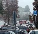 В Туле на улице Дзержинского загорелся частный дом