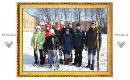 Тульские лыжники обошли москвичей