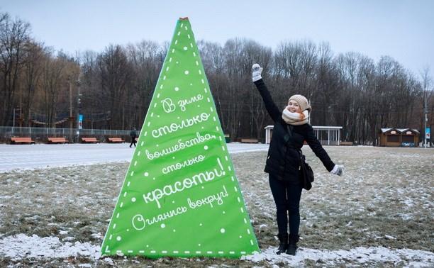Центральный парк преобразился к Новому году