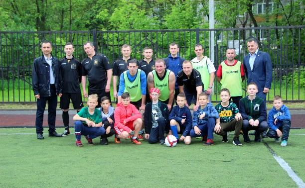 Команда «МехМаша» провела товарищеский матч со сборной учащихся микрорайона Мясново