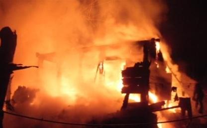 Ночью в Щекинском районе сгорели два дома