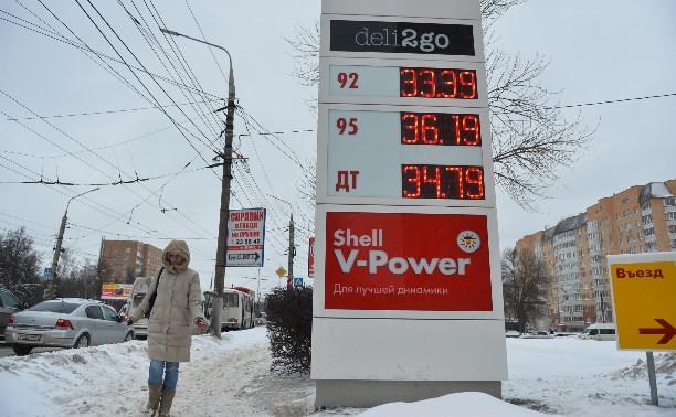 Бензин АИ-92 в Тульской области подорожал за год на 5%
