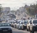 Из-за перекрытия Баташевского моста в Заречье собралась огромная пробка