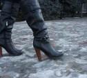 МЧС рекомендует тулячкам отказаться от каблуков на время гололедицы