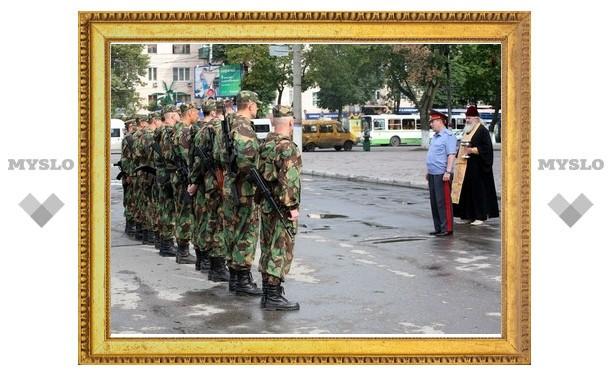 Тульский ОМОН отправился в Чечню
