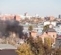 В Туле на улице Ленина загорелся деревянный дом
