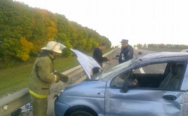 В Воловском районе в перевернувшемся «Дэу Матизе» пострадала женщина