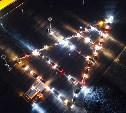 Тульские автомобилисты «нарисовали» из машин ёлку