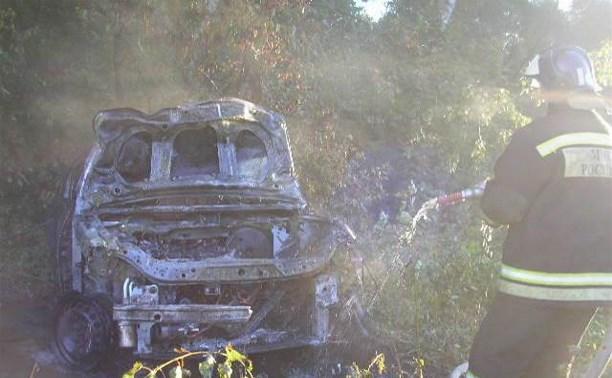 В Заокском районе женщина-водитель погибла в сгоревшем автомобиле
