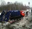 Мусоровоз устроил ДТП с поездом в Тульской области