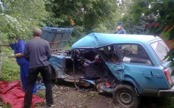 На Орловском шоссе пассажирский автобус «Форд» столкнул в кювет «Жигули»