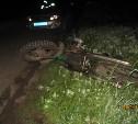 В Богородицком районе «Шкода» врезалась в стоящий мотоцикл