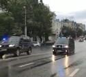 Кортеж Дмитрия Медведева в Туле попал на видео