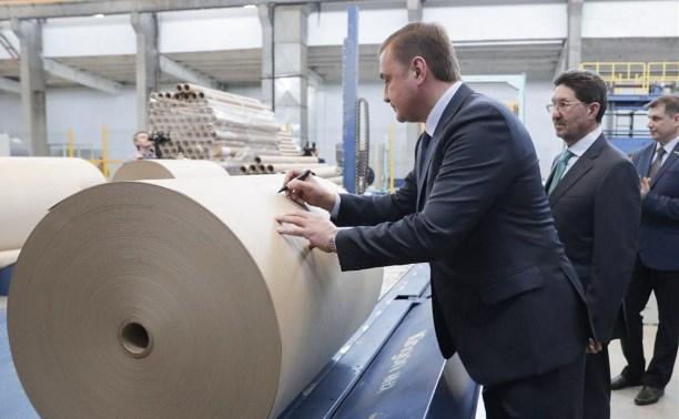 На Алексинской картонной фабрике модернизировали производственную линию