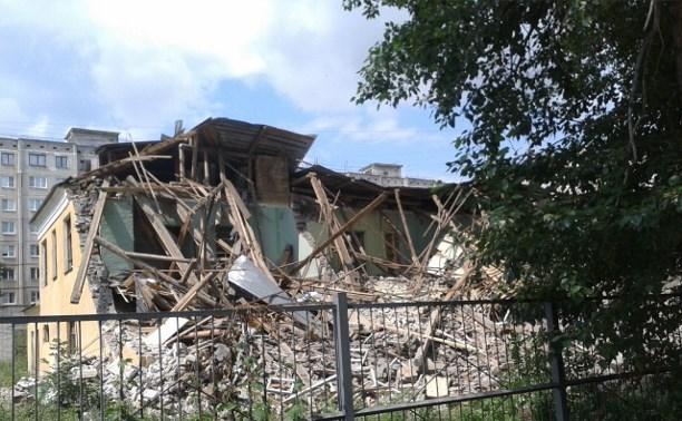 В Заречье закончили снос бывшей коррекционной школы