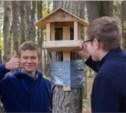 Школьники Тулы установили кормушки в Баташевском саду