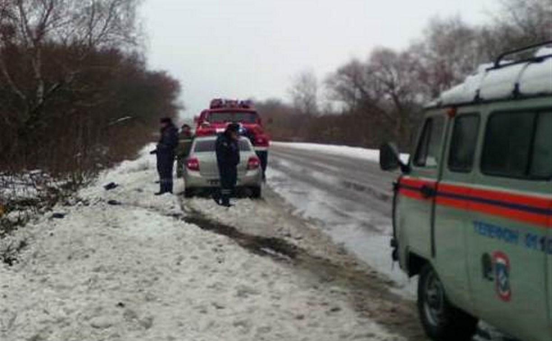 В Новомосковске опрокинулась маршрутка с пассажирами