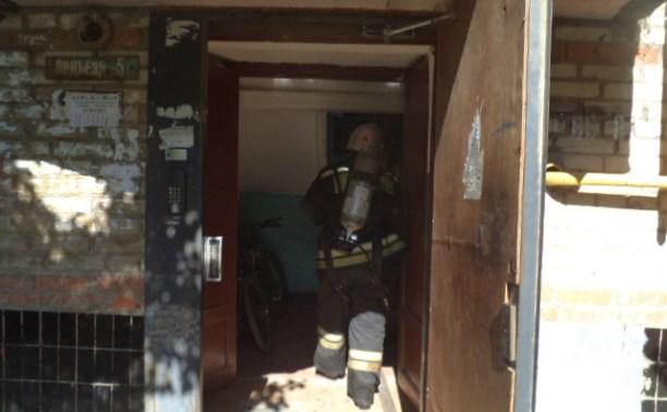 В Алексине спасатели вывели из горящего дома двух человек