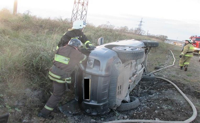 В тройном ДТП в Узловском районе пострадал мужчина