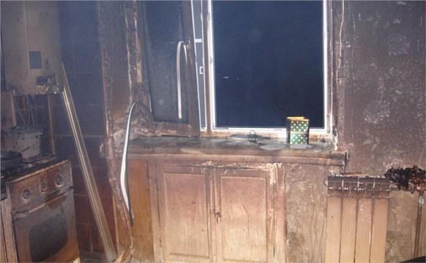 В Пролетарском районе сгорела квартира
