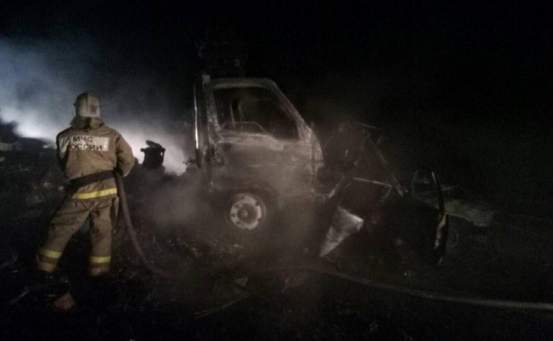 В результате ДТП на трассе в Тульской области сгорел водитель