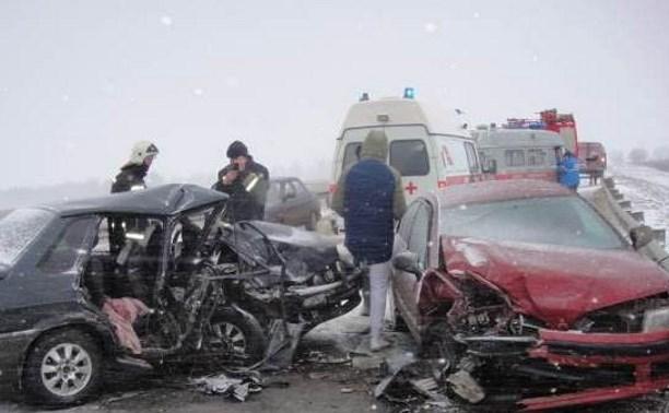 В Алексинском районе водитель и пассажир ВАЗа госпитализированы после столкновения с «Мицубиси»