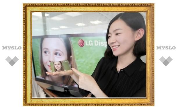 LG показала сверхчеткий экран для мобильных устройств