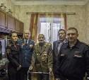 В Туле Росгвардия с военным оркестром поздравила ветерана с Днем защитника Отечества