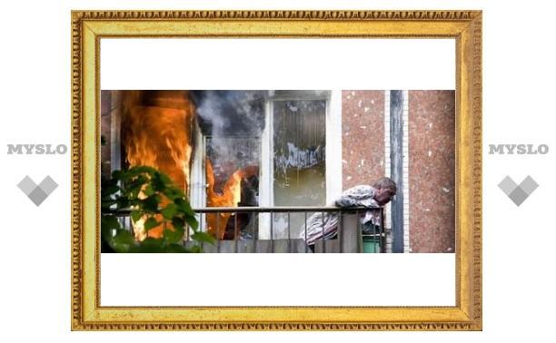 Под Тулой едва не сгорел дом