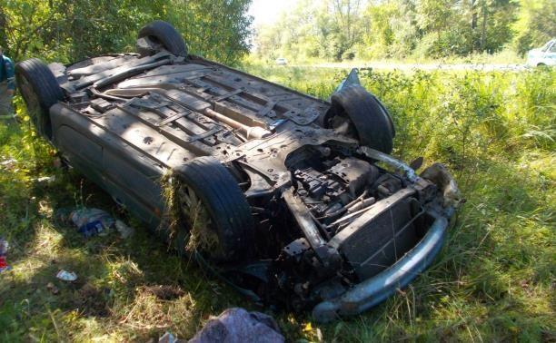 Водитель пострадал в ДТП-«перевёртыше»