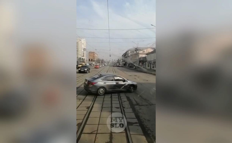 «Накажи автохама»: в Туле не уважают трамваи?