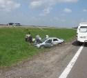 На трассе М-4 «Дон» «Тойота» перевернулась в кювет