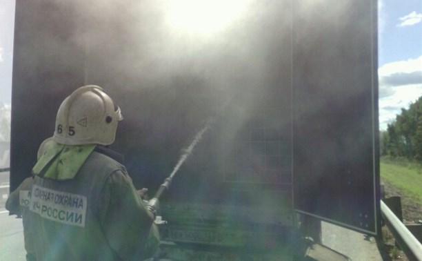 В Венёвском районе загорелась фура