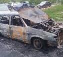 В Узловском районе ночью загорелись две легковушки