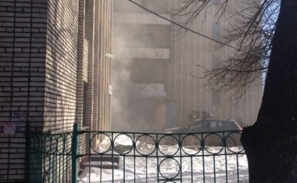 В Туле загорелось общежитие ТГПУ