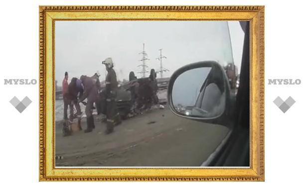 В Туле очевидец снял на видео ДТП с участием полицейского