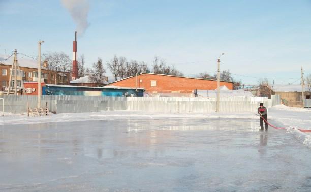 1 января в Щёкино откроется каток
