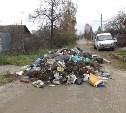 Месть коммунальщиков? В Туле грузовик сбросил полный кузов мусора прямо на жилой улице