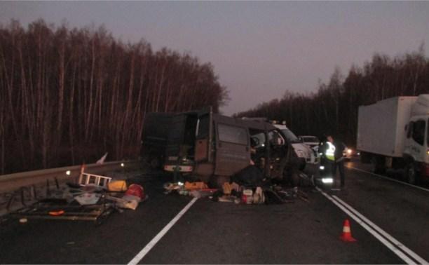 В аварии с двумя микроавтобусами погиб один человек, четверо пострадали