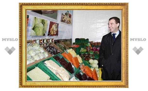 Медведев утвердил отвергнутую Ельциным продовольственную доктрину