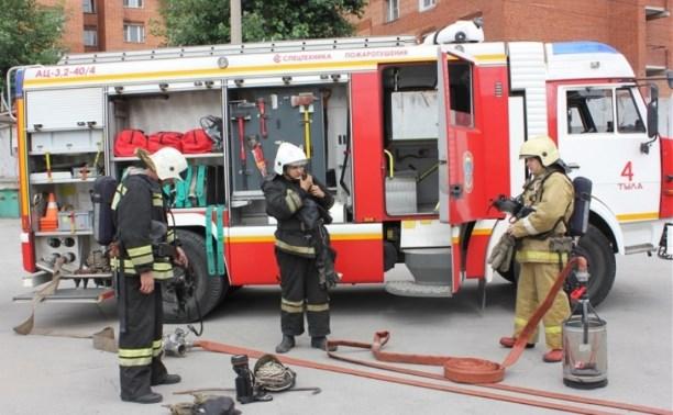 Тульские пожарные обучили таможню бороться с огнём