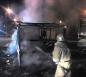 Ночью в Веневе сгорела торговая палатка