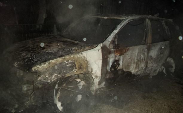Ночью в Щекинском районе сгорели два BMW