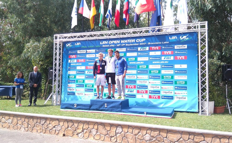 Туляк привез серебряную медаль с Кубка Европы по плаванию на открытой воде