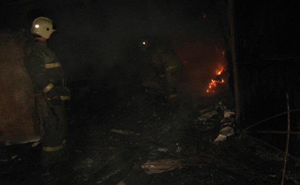 Во время пожара в Белеве погиб человек